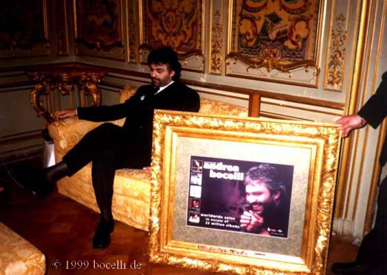 March 18, 1999, Rome Italy - photo exclusively for bocelli.de
