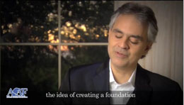 Andrea Bocelli Foundation: Our 2012: first year of work